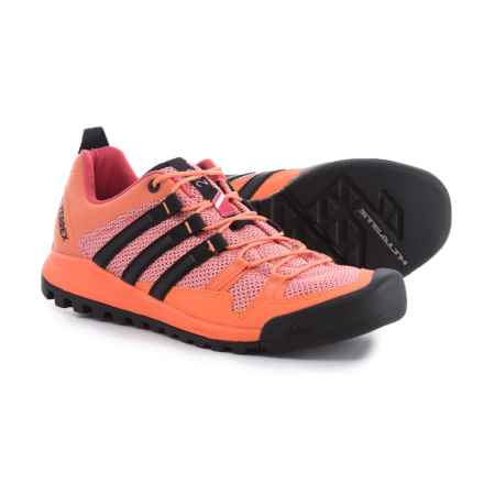 adidas Terrex Solo Hiking Shoes (For Women) in Easy Orange/Black/Tactile Pink - Closeouts