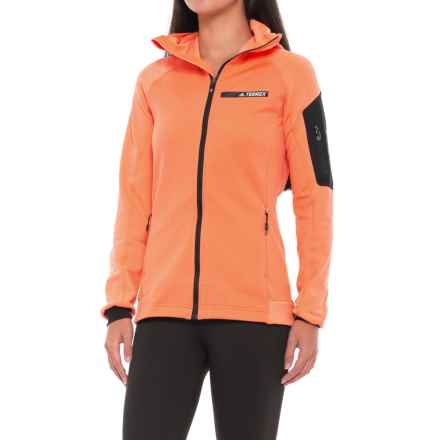 adidas Terrex Stockhorn Fleece Jacket (For Women) in Easy Orange - Closeouts