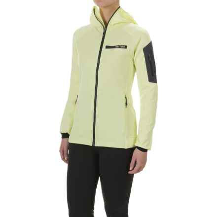 adidas Terrex Stockhorn Hooded Fleece Jacket - Full Zip (For Women) in Ice Yellow - Closeouts