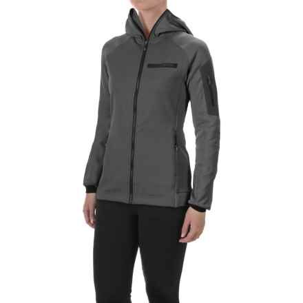 adidas Terrex Stockhorn Hooded Fleece Jacket - Full Zip (For Women) in Utility Black - Closeouts