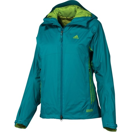 Adidas Terrex Swift 2L Gore-Tex® Jacket - Waterproof, Insulated (For Women) in Lab Green