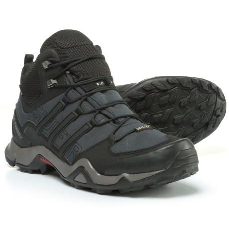 adidas Terrex Swift R Gore-Tex® XCR® Mid Hiking Boots  - Waterproof (For Men) in Dark Grey/Black/Granite