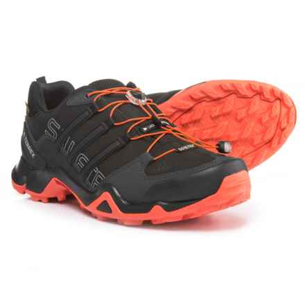 adidas Terrex Swift R Gore-Tex® XCR® Trail Running Shoes - Waterproof (For Men) in Black/Black/Energy - Closeouts