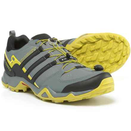 adidas Terrex Swift R Trail Running Shoes (For Men) in Vista Grey/Black/Unity Lime - Closeouts