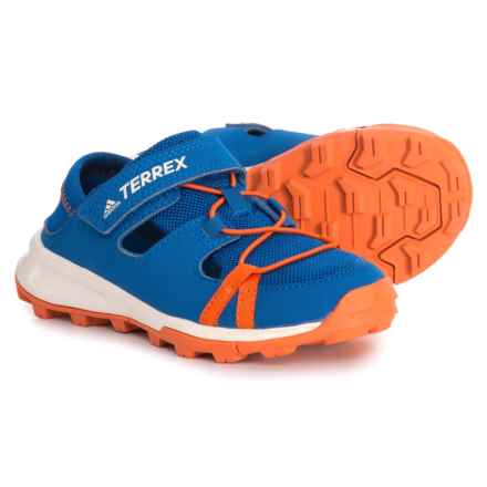 adidas Terrex Tivid Shandal CF Water Shoes (For Little and Big Boys) in Blue Beauty/Orange/Chalk White - Closeouts