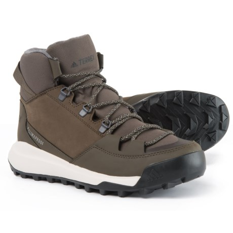 adidas Terrex Winterpitch ClimaWarm® ClimaProof® Hiking Boots - Waterproof, Insulated (For Men) in Umber/Black/Simple Brown