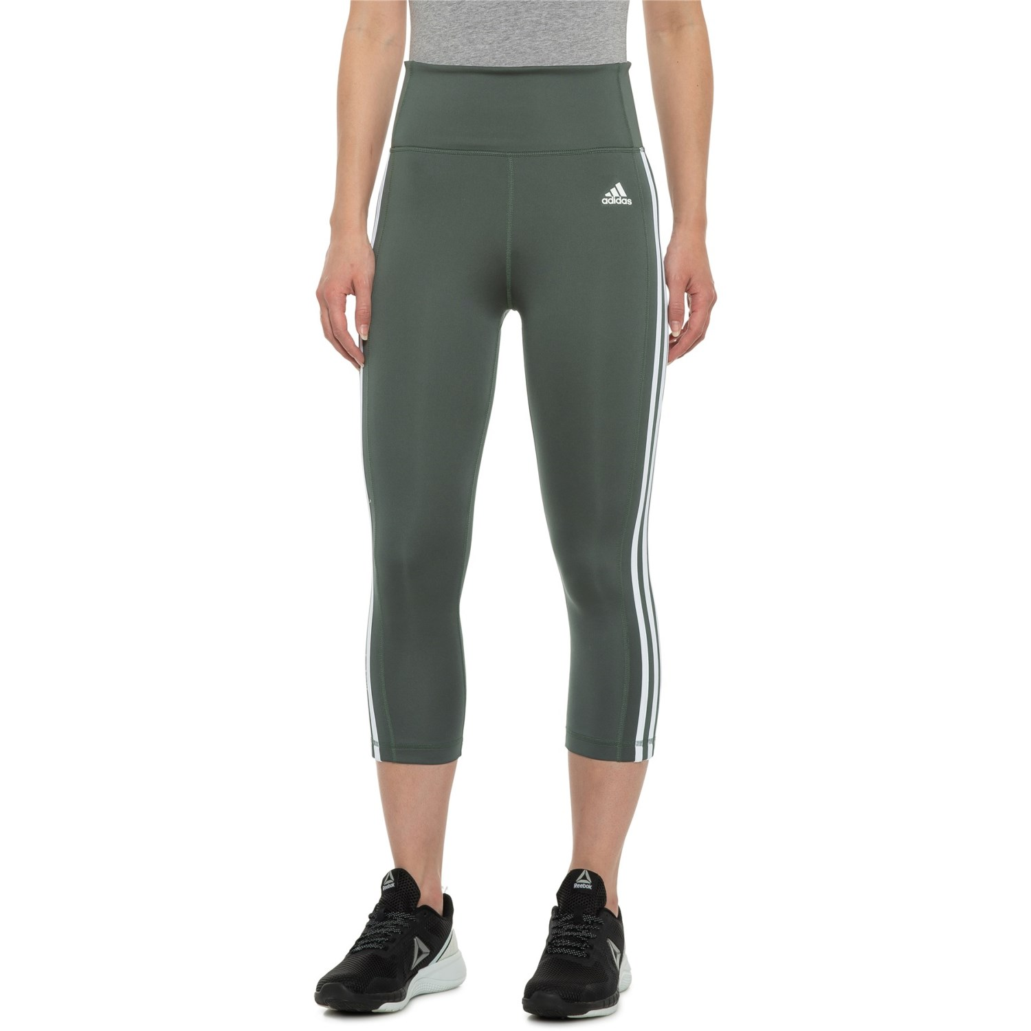medallista ocupado permanecer  adidas Three-Stripe 3/4 Tights (For Women) - Save 31%