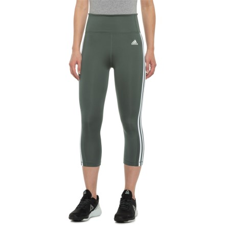 5efd3194e269a adidas Three-Stripe 3/4 Tights (For Women) in Legend Ivy/
