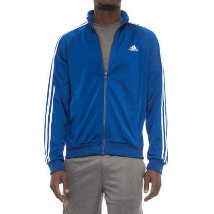 adidas Three-Stripe Essential Jacket (For Men) in Collegiate Royal/White - Closeouts