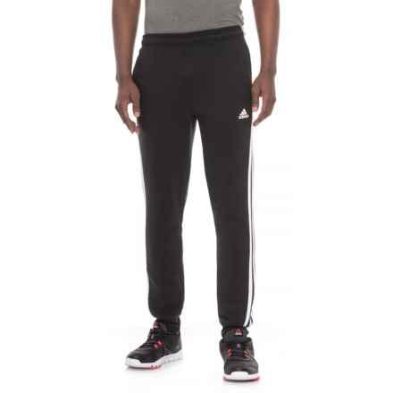 adidas Three Stripe Fleece Joggers (For Men) in Black/White - Closeouts