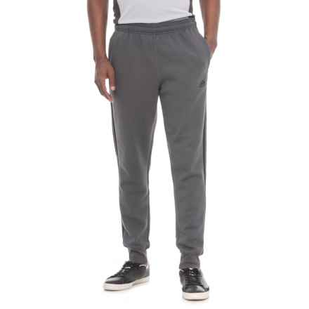 adidas Three Stripe Fleece Joggers (For Men) in Dark Grey W/Black Stripes - Closeouts