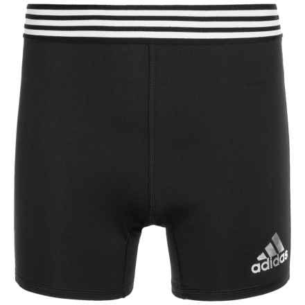 adidas Tight Athletic Shorts (For Big Girls) in Black - Closeouts