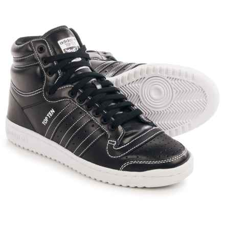 adidas Top Ten Hi Sneakers - Leather (For Men) in Black/White - Closeouts