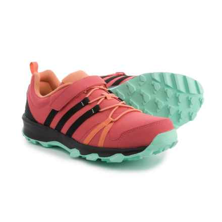adidas Tracerocker Cloudfoam Hiking Shoes (For Big and Little Kids) in Tactile Pink/Black/Easy Green - Closeouts