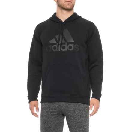 adidas Trefoil Fleece Hoodie (For Men) in Black/Black - Closeouts
