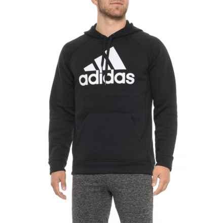 adidas Trefoil Fleece Hoodie (For Men) in Black/White - Closeouts