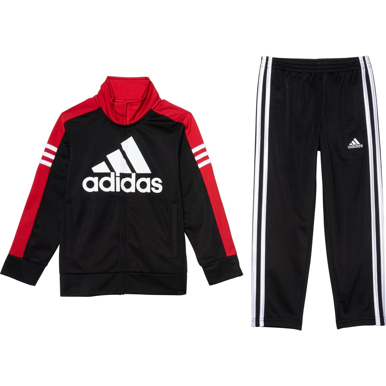 7, Tracksuit Black adidas Boys Tricot Jacket and Pant Set