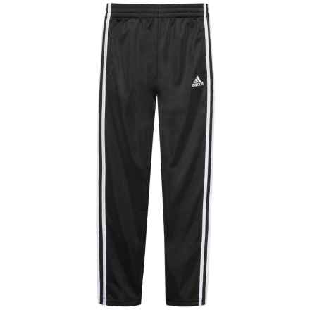 adidas Tricot Straight-Leg Pants (For Big Boys) in Black W/White - Closeouts