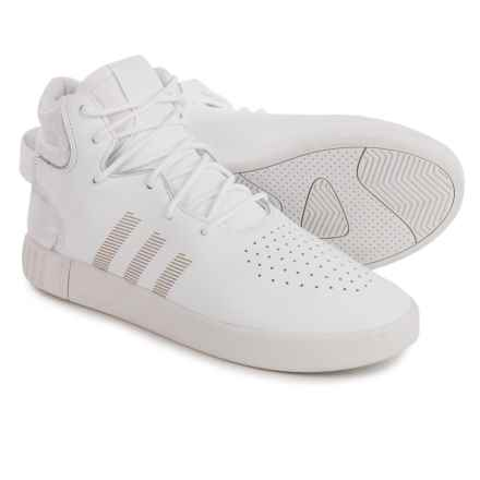 adidas Tubular Invader Shoes - Leather (For Men) in White/White - Closeouts