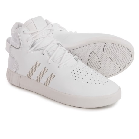 adidas Tubular Invader Shoes - Leather (For Men) in White/White