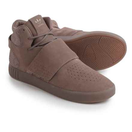 adidas Tubular Invader Strap Shoes - Suede (For Men) in Brown/Brown - Closeouts