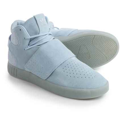 adidas Tubular Invader Strap Shoes - Suede (For Men) in Easy Blue/Easy Blue - Closeouts