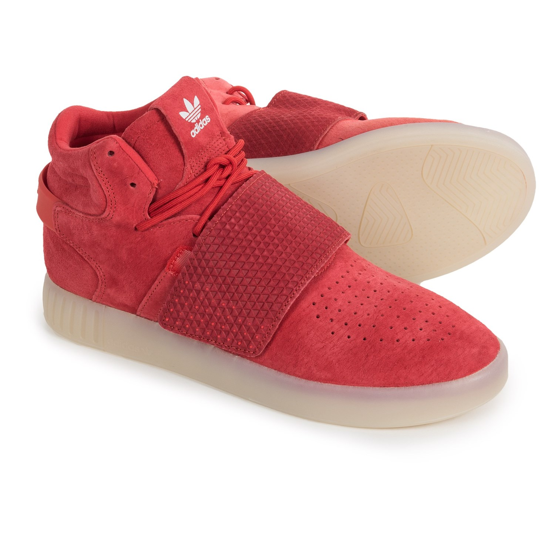 adidas tubular strap red