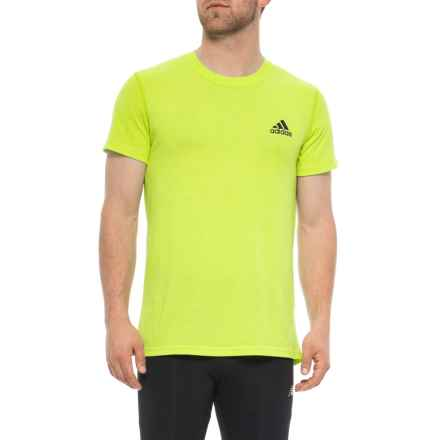 adidas Ultimate 2.0 T-Shirt - Short Sleeve (For Men) in Semi Solar Yellow/Colored Heather - Closeouts