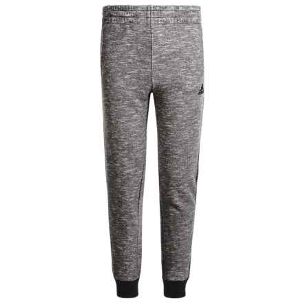 adidas Ultimate Cotton Fleece Joggers (For Big Boys) in Marled Black - Closeouts