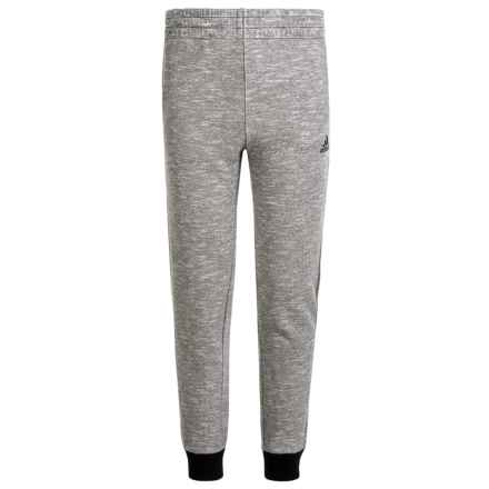 adidas Ultimate Cotton Fleece Joggers (For Big Boys) in Marled Grey - Closeouts