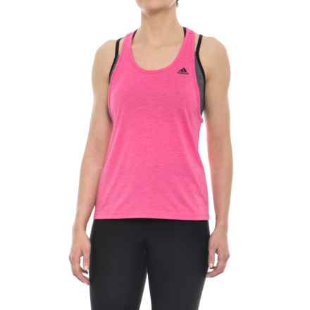 adidas Ultimate DD Tank Top (For Women) in Solar Pink - Closeouts