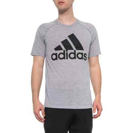 fdc153e3287e3 adidas Ultimate T-Shirt - Short Sleeve (For Men) in Medium Grey Heather