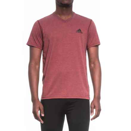 adidas Ultimate V-Neck Shirt - Short Sleeve (For Men) in Mystery Red - Closeouts