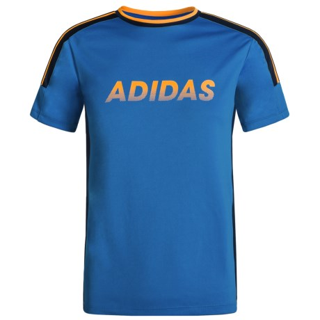 adidas Undefeated Athletic Shirt - Short Sleeve (For Toddlers) in Medium Blue