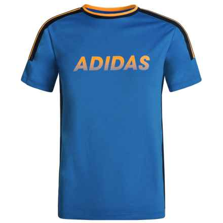 adidas Undefeated ClimaCool® T-Shirt - Short Sleeve (For Big Boys) in Medium Blue - Closeouts