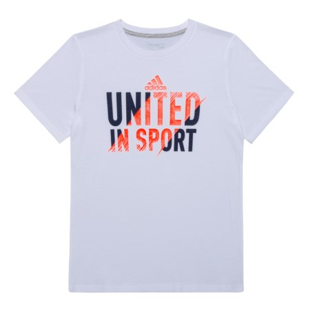 adidas United in Sport T-Shirt - Short Sleeve (For Big Boys) in White