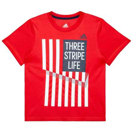 adidas USA T-Shirt - Short Sleeve (For Toddlers and Little Boys) in Red/White - Closeouts