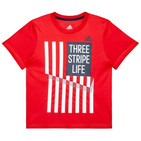 adidas USA T-Shirt - Short Sleeve (For Toddlers and Little Boys) in Red/White
