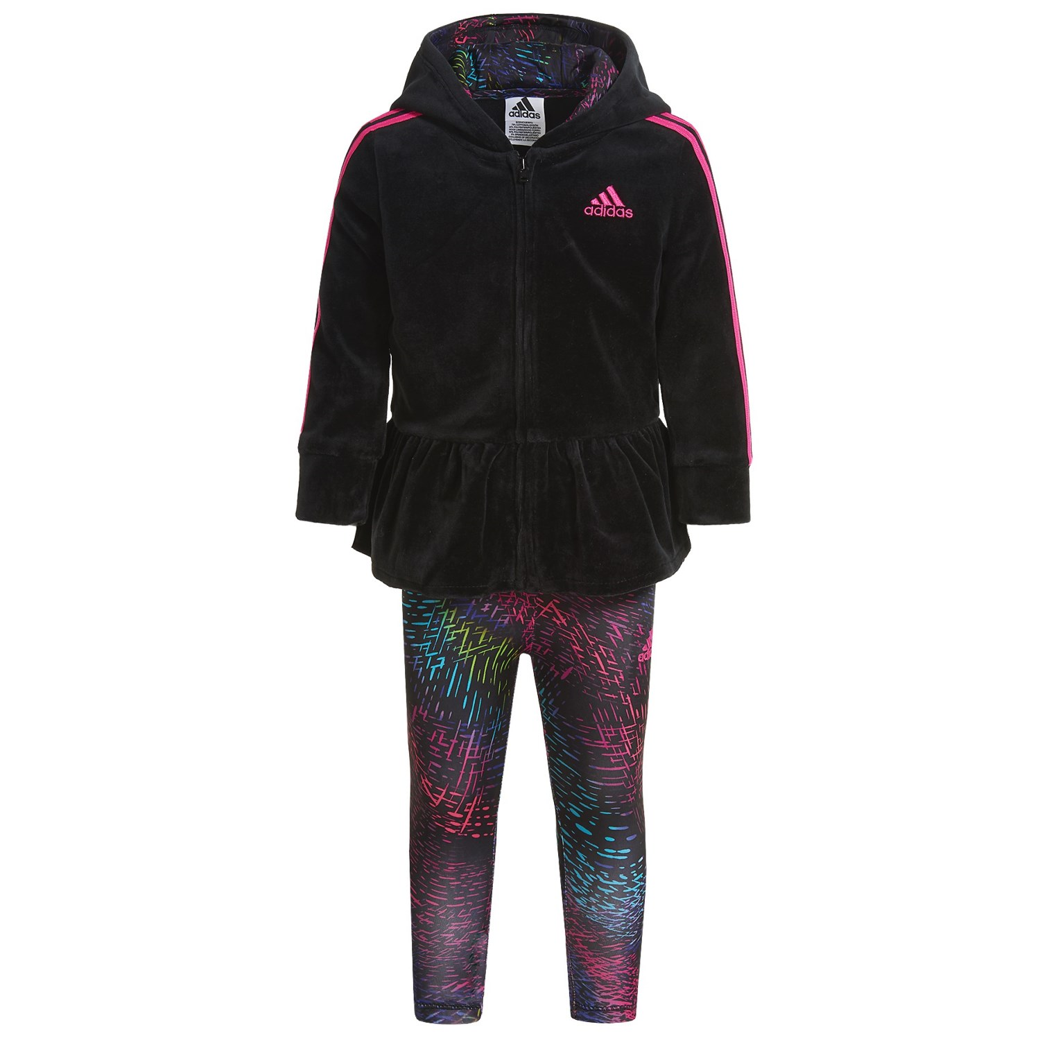 adidas Velour Hoodie and Leggings Set (For Infants)