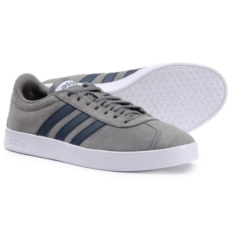 adidas VL Court 2.0 Casual Shoes (For Men) in Grey Four Collegiate Navy 3f8cc2d19