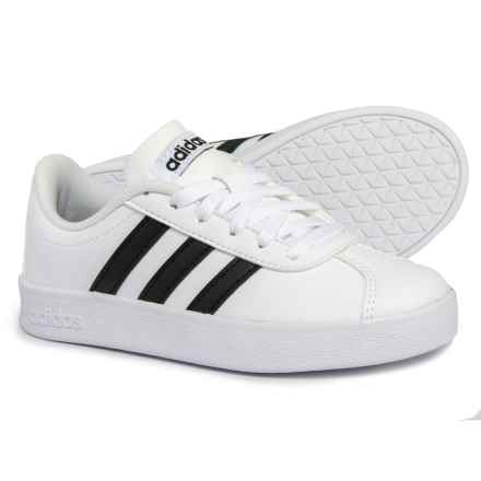 adidas VL Court 2.0 Sneakers (For Boys) in Footwear White/Core Black/Footwear White - Closeouts