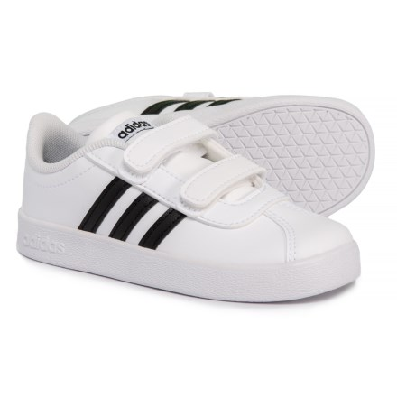 e8e65ae68cb adidas VL Court Sneakers (For Toddlers) in Footwear White Core Black  Footwear
