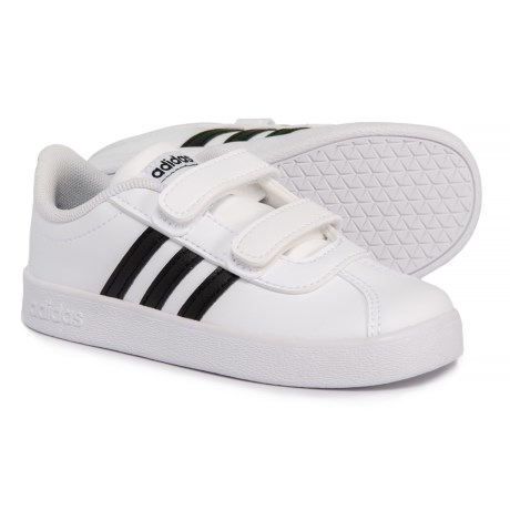 92755f2325a adidas VL Court Sneakers (For Toddlers) in Footwear White/Core  Black/Footwear
