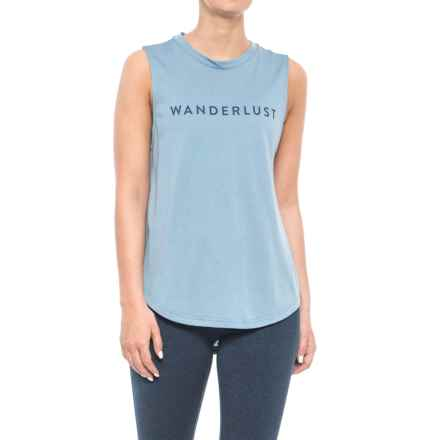 adidas Wanderlust Tank Top (For Women) in Tactile Blue - Closeouts