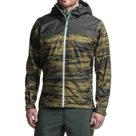 adidas Wandertag Aop Jacket - Waterproof (For Men) in Olive Cargo/Utility Black - Closeouts