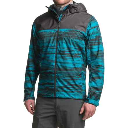 adidas Wandertag AOP Jacket - Waterproof (For Men) in Unity Blue/Utility Black - Closeouts