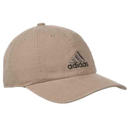 adidas Weekend Warrior Baseball Cap (For Men) in Washed Khaki/Explorer/Dark Iron - Closeouts