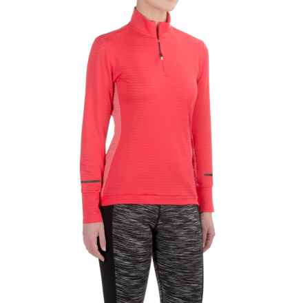adidas Xperior Active Shirt - Neck Zip, Long Sleeve (For Women) in Ray Red - Closeouts