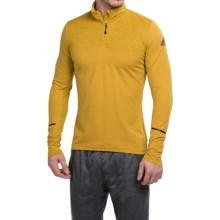 adidas Xperior Active Shirt - Zip Neck, Long Sleeve (For Men) in Raw Ochre - Closeouts