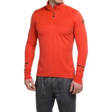 adidas Xperior Active Shirt - Zip Neck, Long Sleeve (For Men) in Solar Red - Closeouts